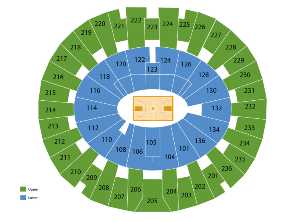 Minnesota Golden Gophers at Michigan Wolverines Basketball Venue Map