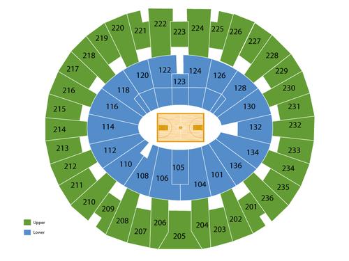 Crisler Center Seating Chart Events In Ann Arbor Mi