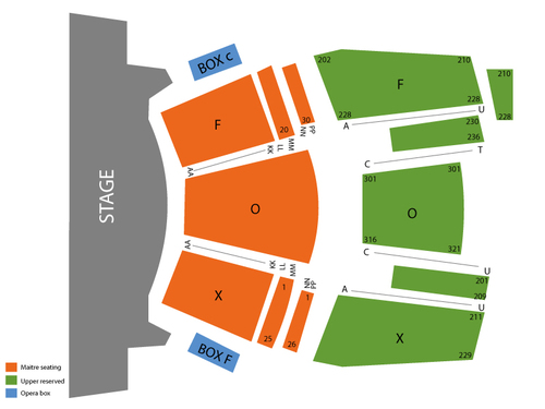 Fox Theater at Foxwoods Resort Casino Seating Chart