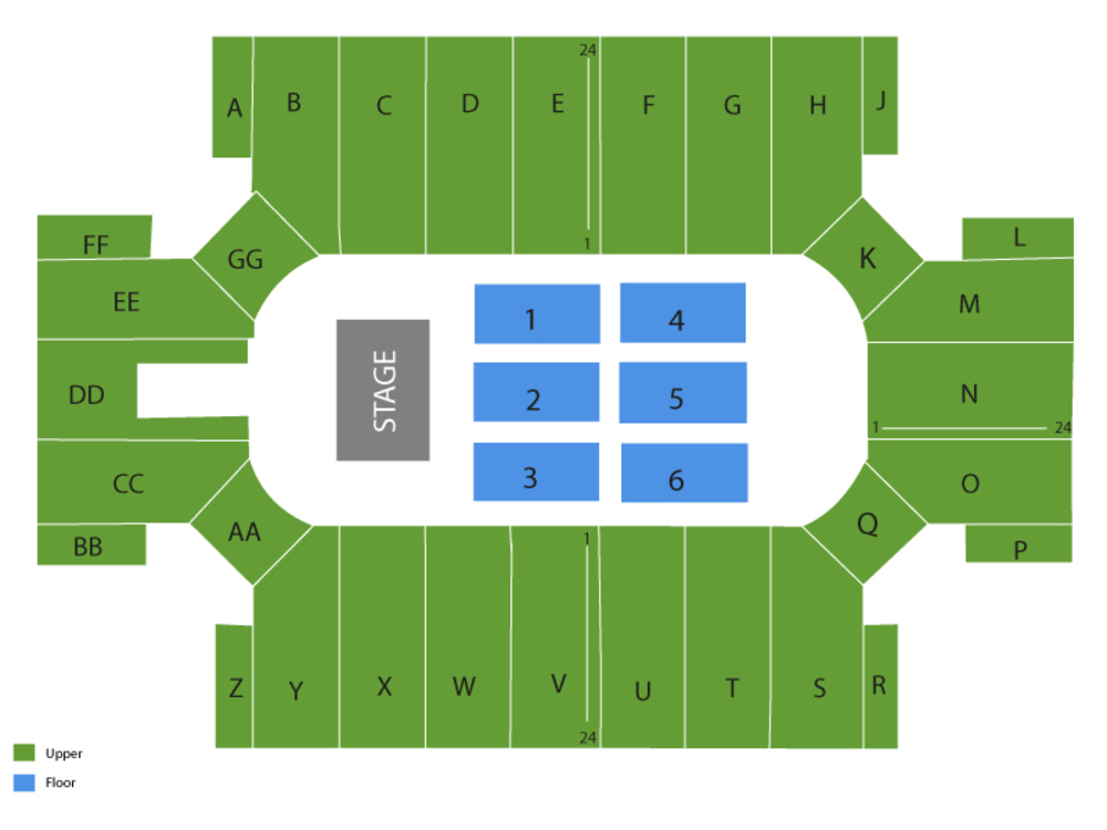 Cross Insurance Arena seating map and tickets
