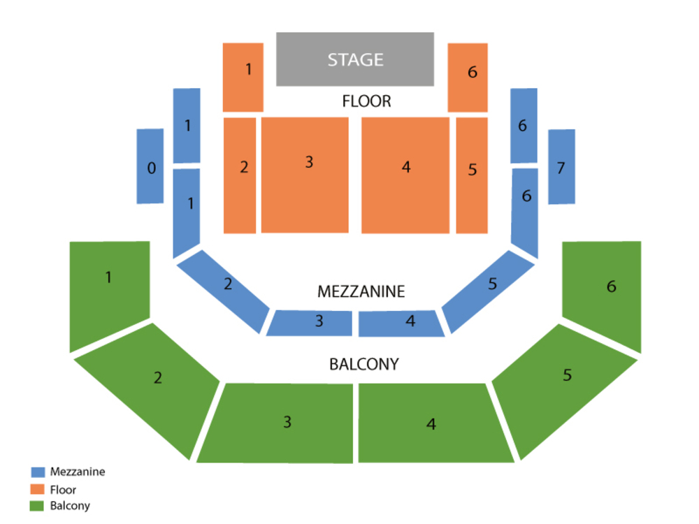 Seating Chart for End Stage Seating Chart at Austin City Limits Live at The Moody Theater (Austin)
