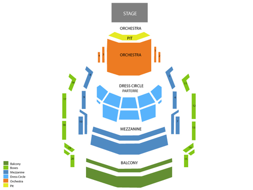 Ikeda Theatre at The Mesa Arts Center Seating Chart