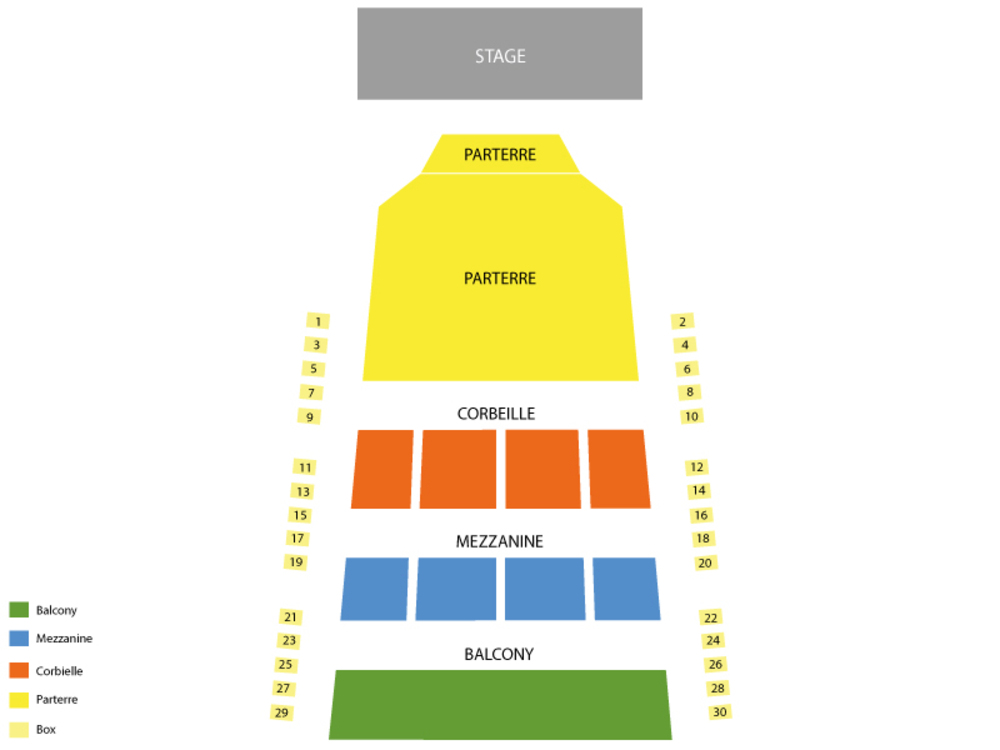 Romeo and Juliet (Rescheduled from 4/23/20) Venue Map