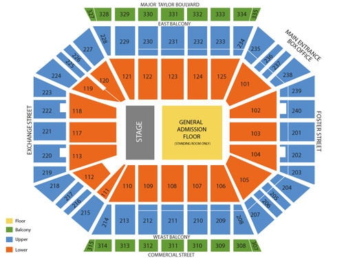 WAAF Big Gig: Godsmack With Halestorm and Theory of a Deadman (Rescheduled from 4/25/2020, 4/24/2021) Venue Map