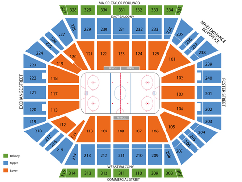 DCU Center Seating Chart