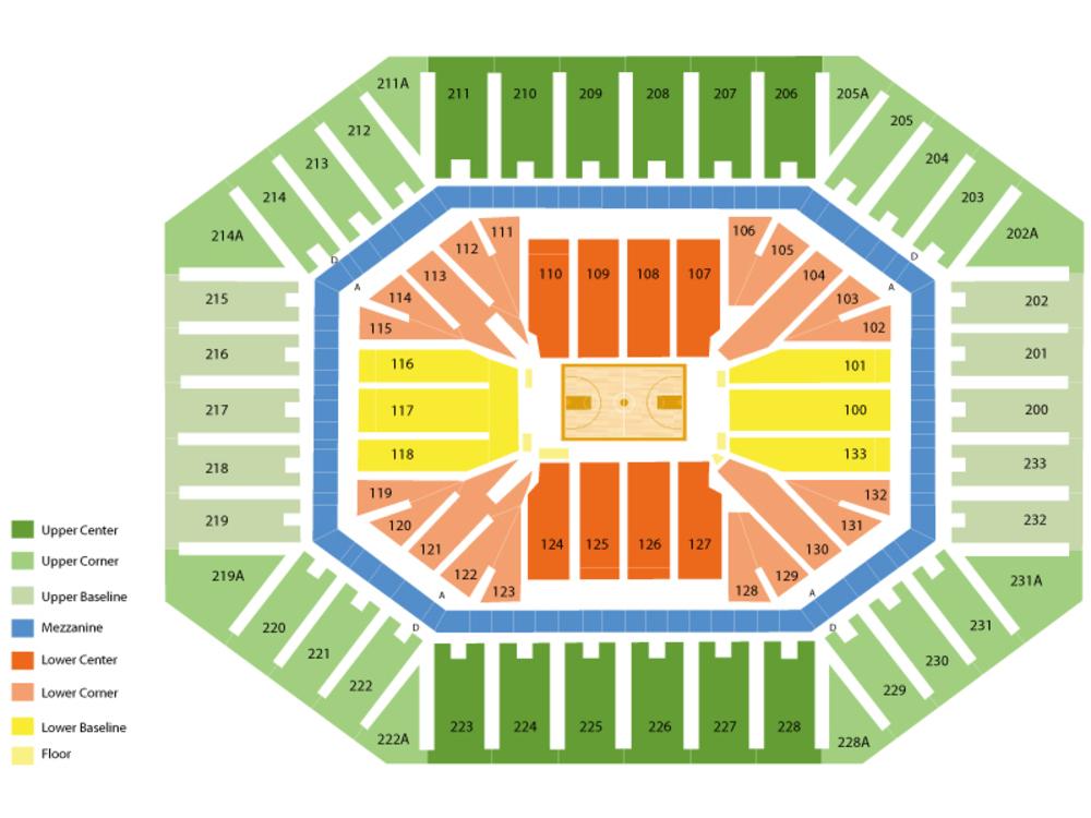 Saint Francis PA Red Flash at North Carolina Tar Heels Basketball Venue Map