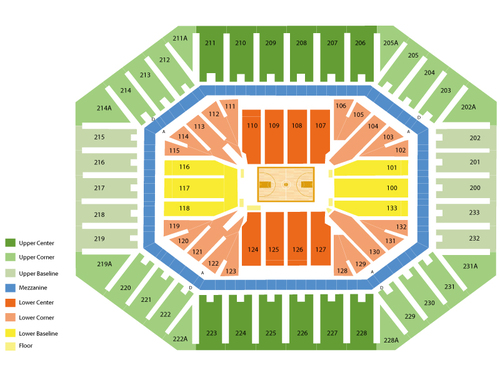 Dean Smith Center Seating Chart