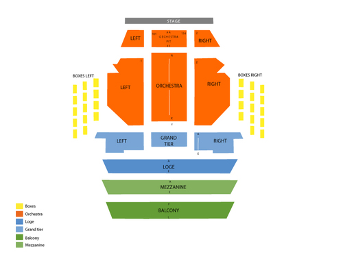 Kravis Center - Dreyfoos Concert Hall Seating Chart