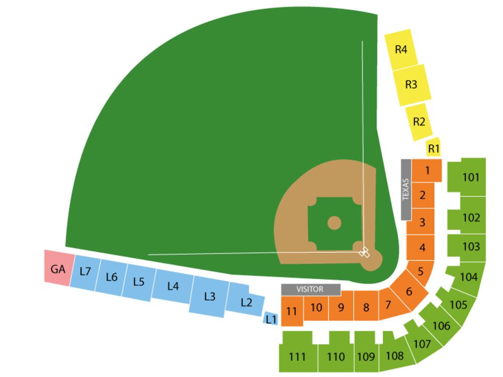 Kansas State Wildcats at Texas Longhorns Baseball Venue Map