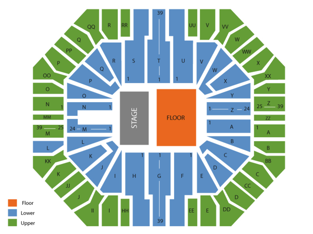 Don Haskins Center seating map and tickets
