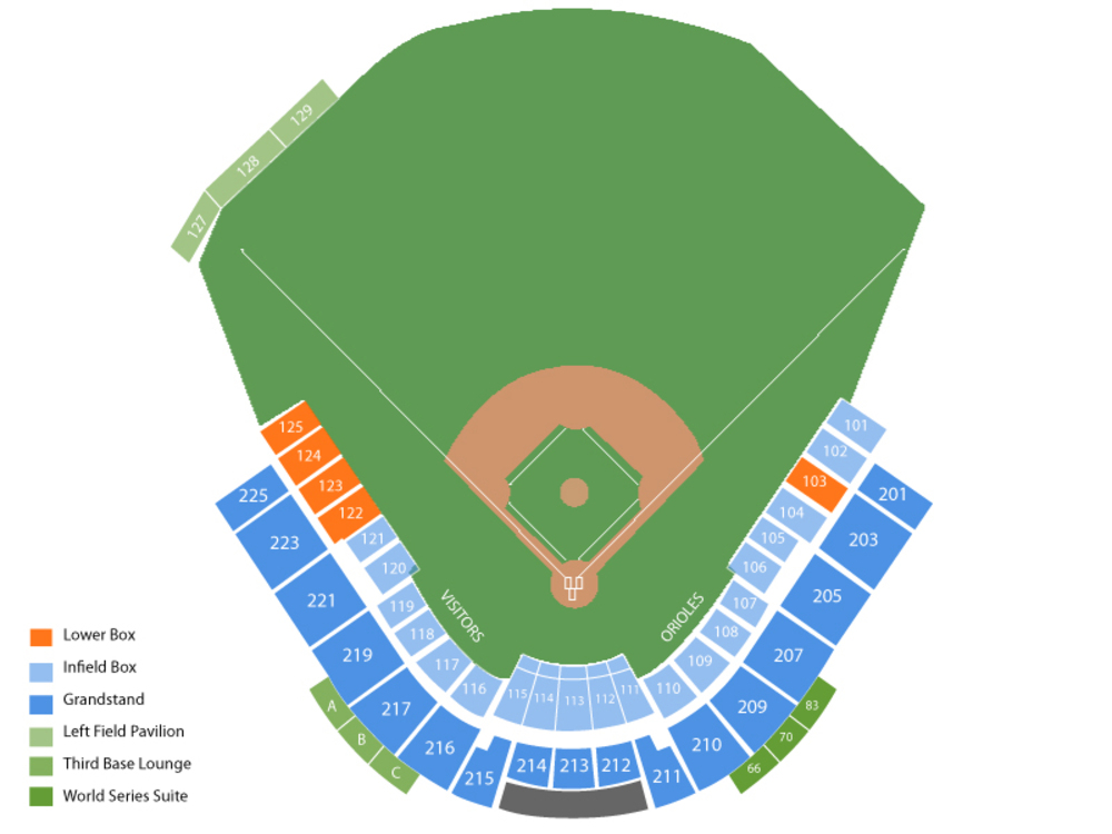 Spring Training: Tampa Bay Rays at Baltimore Orioles Venue Map