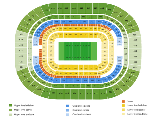 Tampa Bay Buccaneers at St. Louis Rams Venue Map