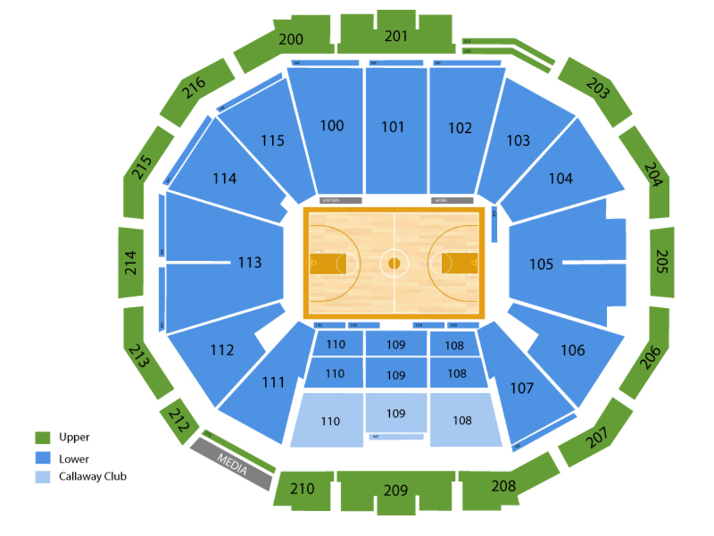 McCamish Pavilion seating map and tickets