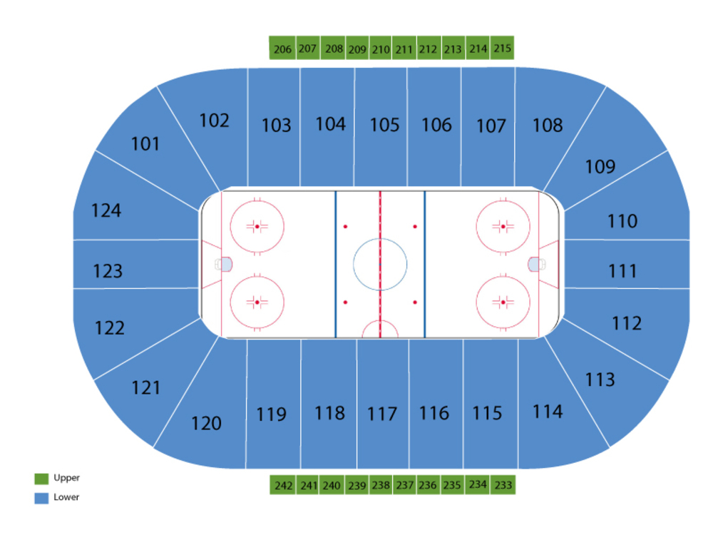 Manchester Monarchs at Reading Royals Venue Map