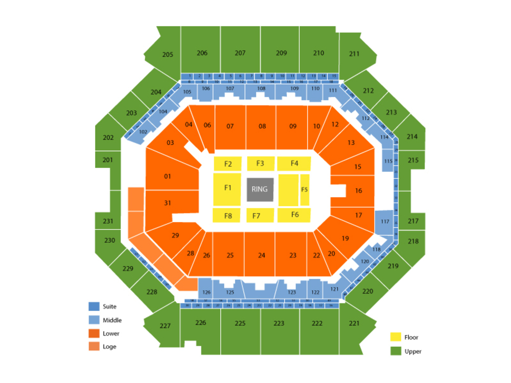 Adrien Broner vs Jessie Vargas Venue Map