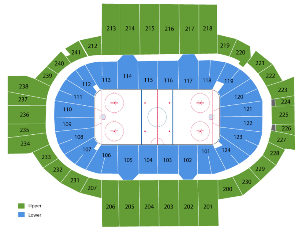 Utica Comets at Hartford Wolf Pack Venue Map