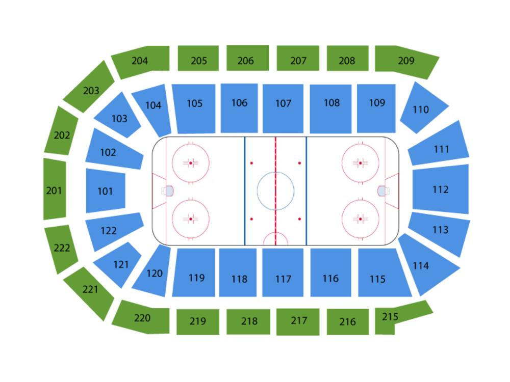 Atlanta Gladiators at Toledo Walleye Venue Map