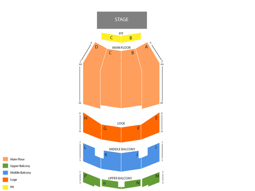Annie - The Musical (Reduced Capacity, Social Distancing) Venue Map