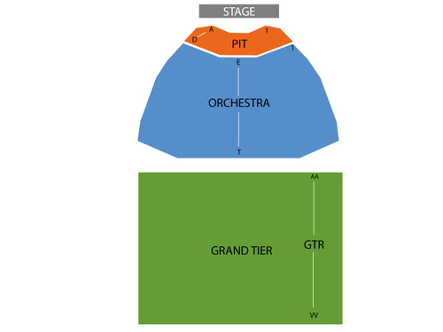 King Center for the Performing Arts - FL Seating Chart