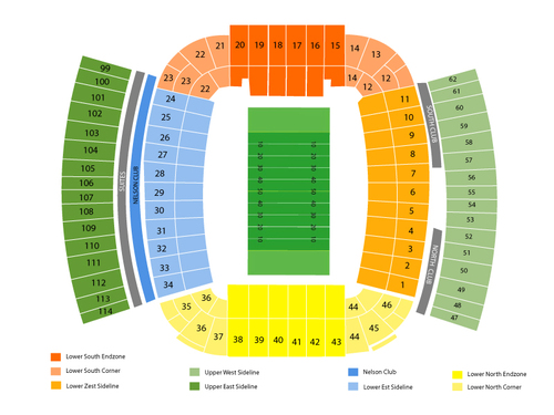 Auburn Tigers  Season Tickets Venue Map