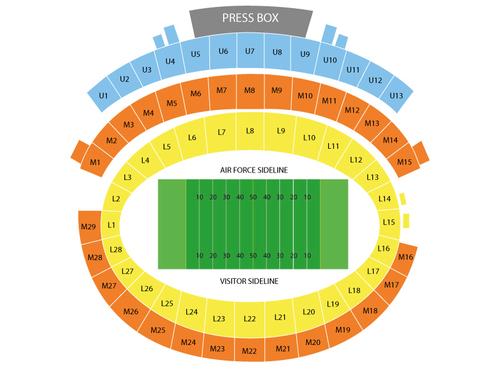 Falcon Stadium Seating Chart