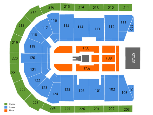 One Direction Venue Map