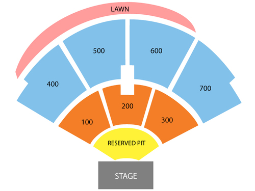 Freedom Hill Amphitheatre Seating Chart