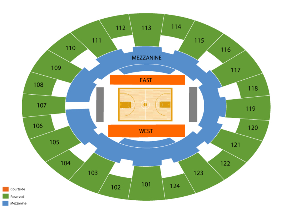 Texas Longhorns at Baylor Bears Basketball Venue Map