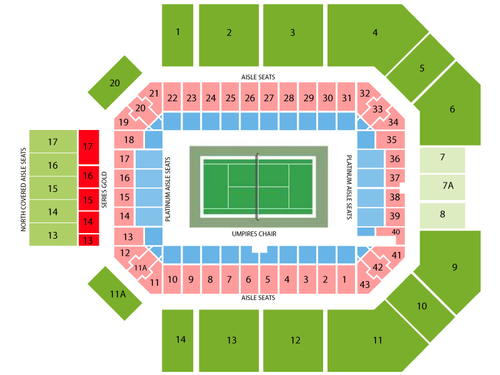 2021 Citi Open Tennis - Session 1 (Rescheduled from 8/1/2020) Venue Map