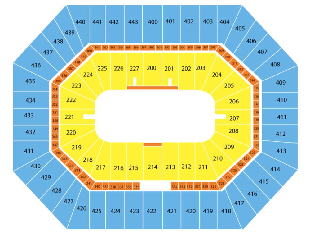 Monster Jam Triple Threat Series Venue Map