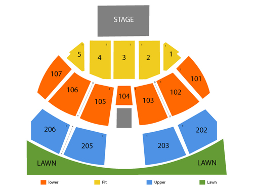Austin360 Amphitheater Seating Chart