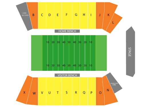 McMahon Stadium Seating Chart
