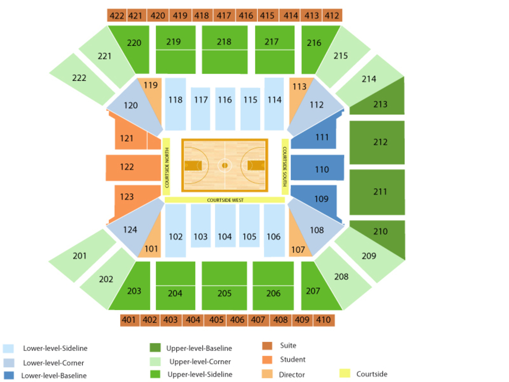 Galen center seating chart and tickets