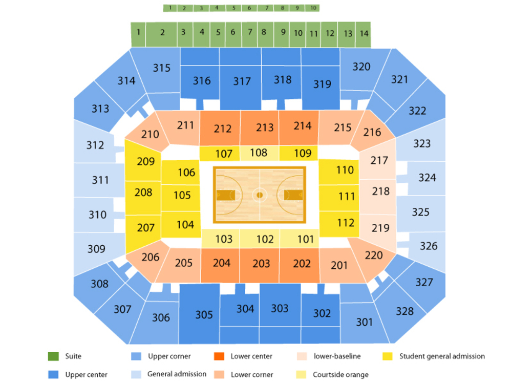 Gallagher-Iba Arena seating map and tickets