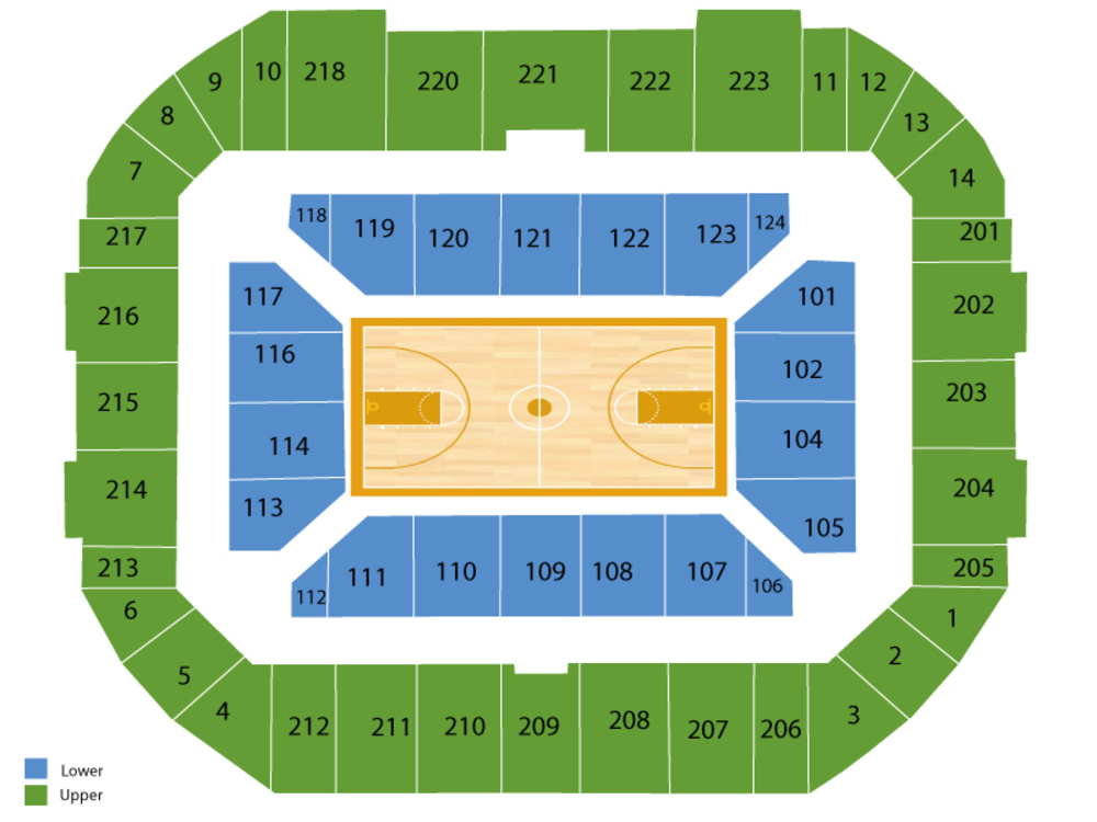 Gampel pavilion seating chart and tickets formerly harry a gampel