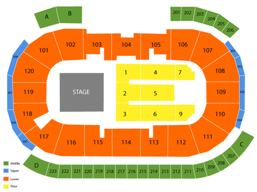 General Motors Centre Seating Chart