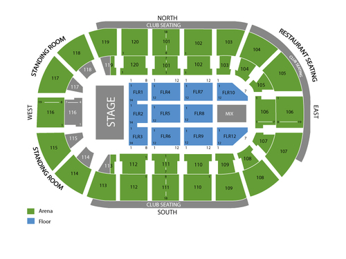 Hertz arena seating chart events in estero fl