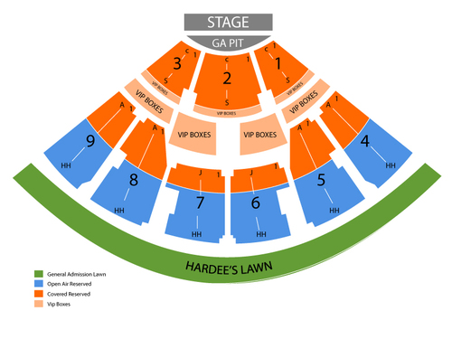 Walnut Creek Amphitheatre Seating Chart