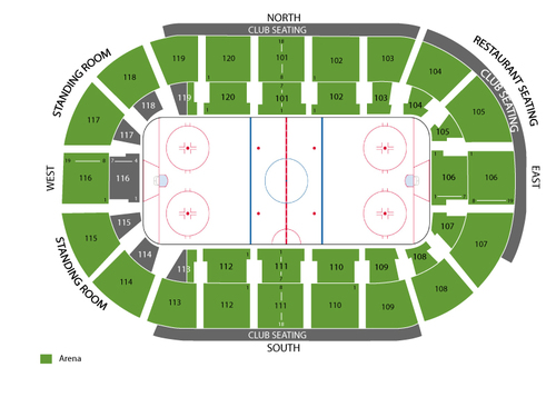 Germain Arena Seating Chart