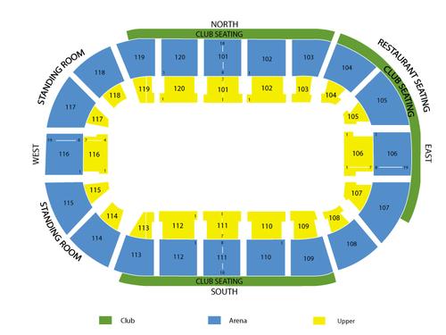 Germain Arena Seating Chart