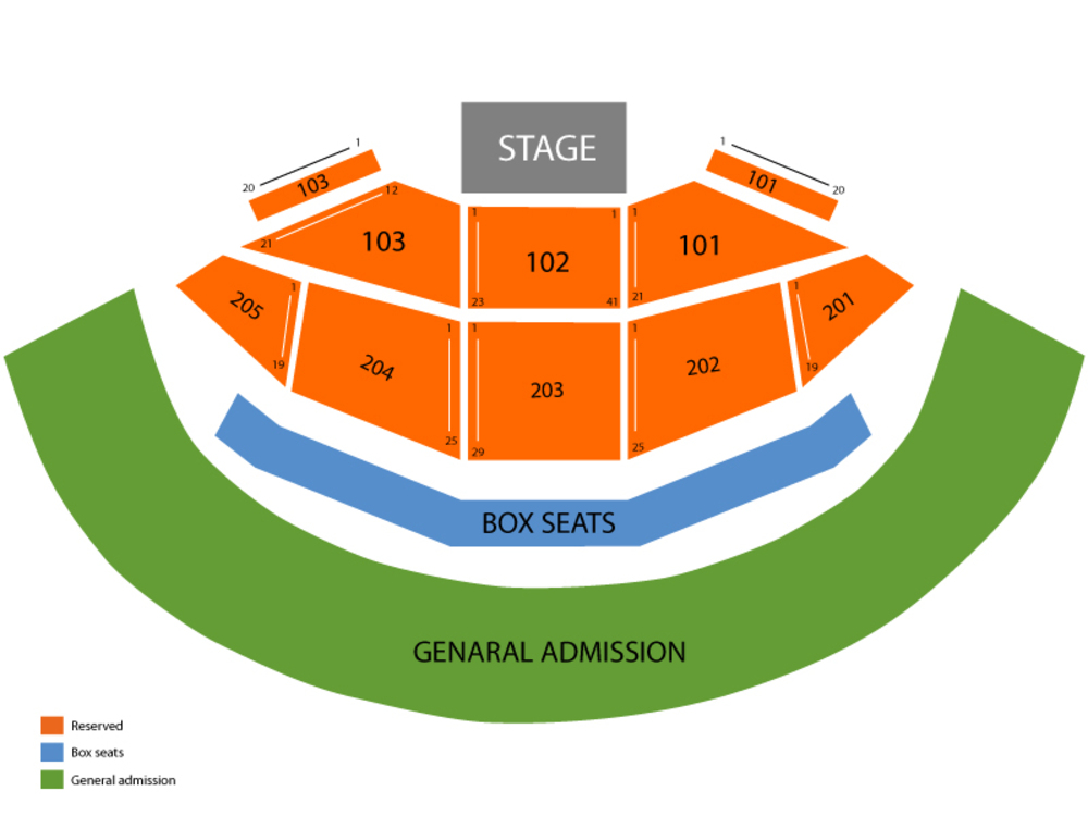 Gorge Amphitheatre seating map and tickets