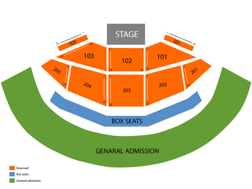Gorge Amphitheatre Seating Chart