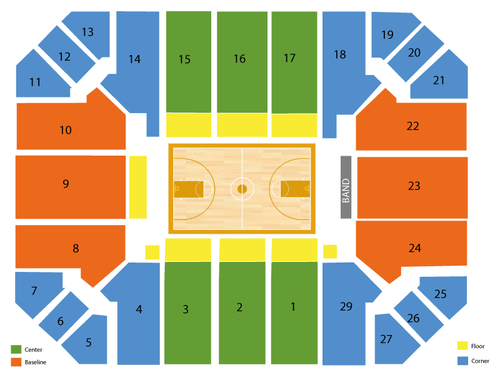 Haas pavilion seating chart events in berkeley ca