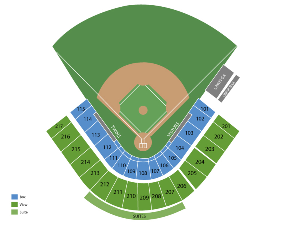Spring Training: Atlanta Braves (Split Squad) at Minnesota Twins Venue Map