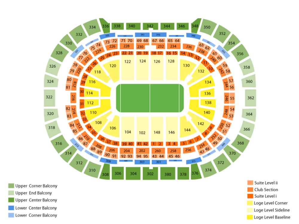 Buffalo Bandits at Colorado Mammoth Venue Map