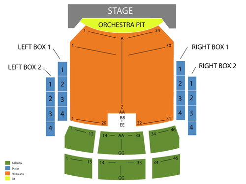 Peoria Civic Center Theatre Seating Chart
