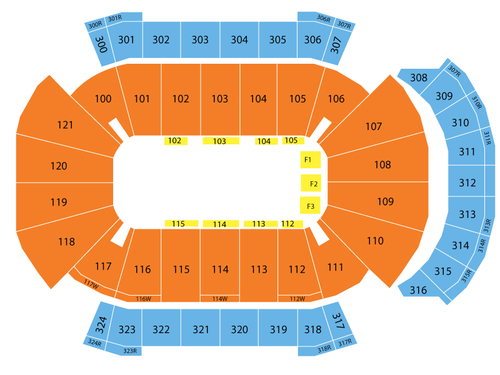 Jacksonville Veterans Memorial Arena Seating Chart