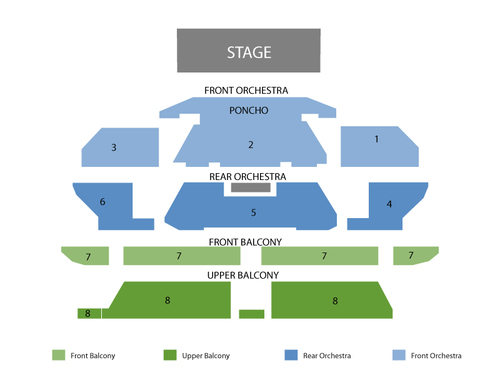 Rock of Ages Theatre - Venetian Hotel & Casino Seating Chart