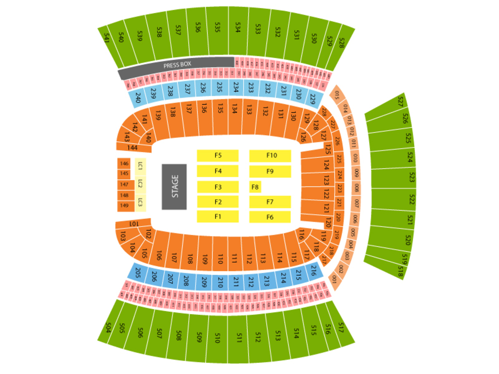 Heinz Field seating map and tickets