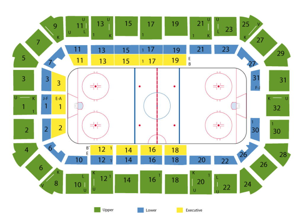 Dow Event Center seating map and tickets